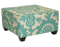 Gerber Square Ottoman, Surf eclectic-footstools-and-ottomans