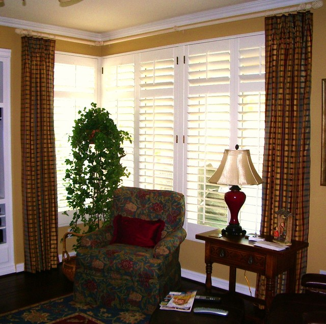 Traditional Window Treatments Living Room: French Pleated Drapery