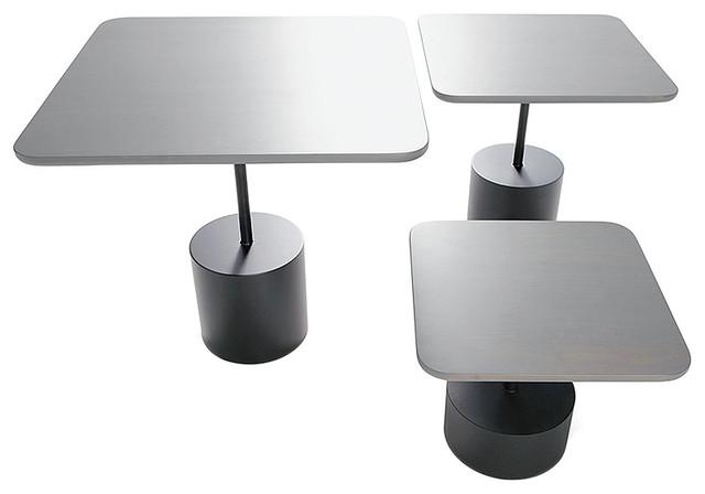 Innovation Living Quarter Light Gray Maple Tables, Set of 3 contemporary-bar-tables