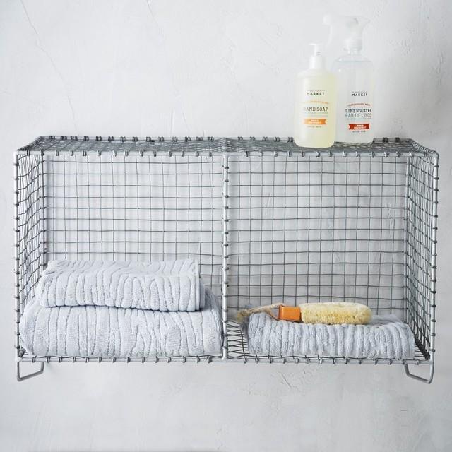 wire mesh storage hanging shelf contemporary