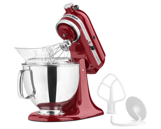 KitchenAid - KitchenAid KSM150 5-Quart Artisan Stand Mixer - The centerpiece of any well-run kitchen, this masterful mixer is powerful, adaptable and downright good-looking. With ten speeds, three attachments (beating, whipping and mixing) and one power hub with endless possibilities (grinding, juicing, pasta making) this amazing appliance will quickly become your favorite kitchen companion.
