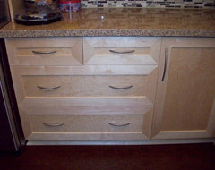 Wood vs mdf custom painted cabinets for Can you paint thermofoil kitchen cabinets