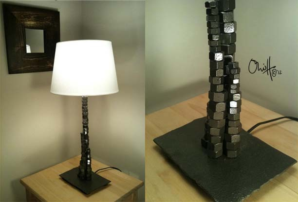 Ani Harper: Nuts and Bolts Lamp industrial-table-lamps