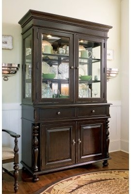 Paula Deen Down Home China Cabinet - Tobacco modern-storage-units-and-cabinets