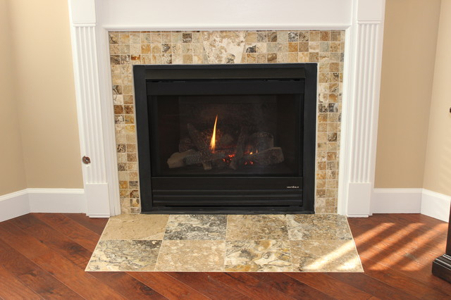 Pams Wood amp Tile Floors And Fireplace Traditional