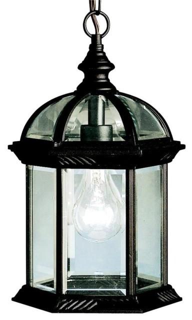 Kichler Lighting - 9835BK - New Street - One Light Outdoor Pendant traditional-outdoor-lighting