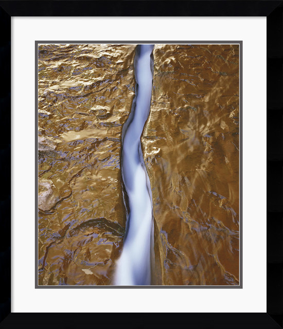 Water Ribbon Framed Print by Will Connor traditional-prints-and-posters