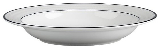 Roulette Blue Band Low Bowl modern-dining-bowls