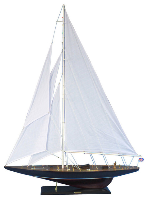 Endeavour 60 39 39 large model sailboat wooden sailboat for Decoration yacht