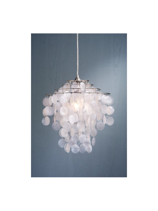 Laura Ashley - Laura Ashley PXC244 Daliya Capiz Foyer Pendant - Daliya Capiz Foyer PendantLaura Ashley Home Lighting brings the distinctive style of Laura Ashley into your home with an impressive selection of lighting. Each piece embodies the English influence of Laura Ashley while bringing classical elegance to modern design.