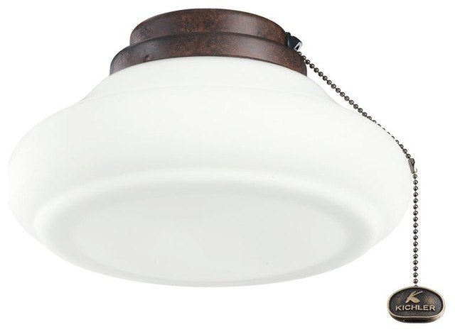 Ceiling Fan Parts And Accessories : Kichler lighting quot schoolhouse ceiling fan light kit