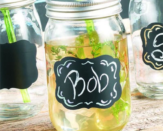Chalk It Up Glass Mason Jar Sippers Set of 4 -