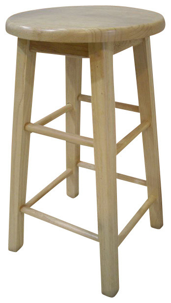 Linon 24 Inch Counter Stool With Round Seat In Natural