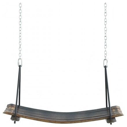 Retired Wine Barrel Swing traditional-outdoor-swingsets