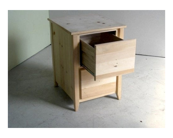 Unfinished 2 Drawer Wooden File Cabinet - Made by http://www.ecustomfinishes.com