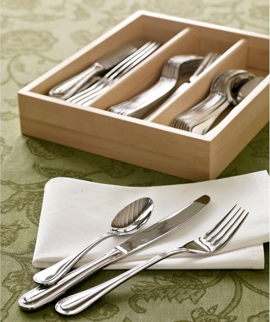 Caterer's 36-Piece Flatware Set traditional-flatware-and-silverware-sets