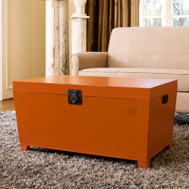 angelo:HOME Pyramid Trunk Coffee Table - Orange contemporary-coffee-tables