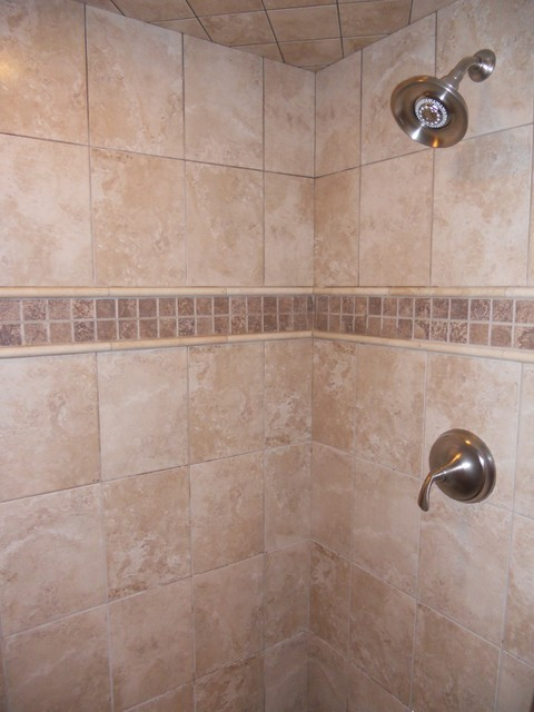 Custom Tiled Showers traditional-bathroom