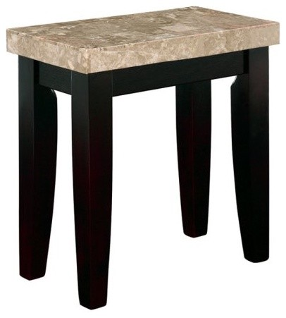 Steve Silver Monarch Rectangular Marble Top End Table modern-dining-tables