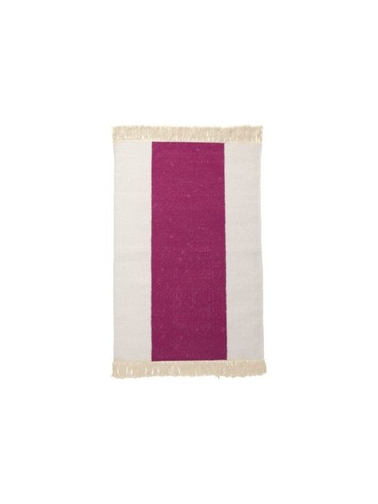 Serena & Lily - Berry Broad Stripe Bath Dhurrie - Not your average bath mat, we love a dhurrie by the tub. The smooth weave feels fab on bare feet and brings a fresh design element to the room. Hand-knotted fringe adds a fun textural twist.
