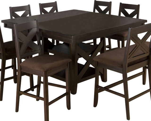 Jofran morgan butterfly leaf 60x60 counter height table for Table 60x60 design