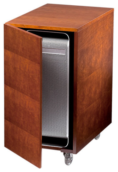 Sequel CPU Cabinet, Natural Cherry - Contemporary