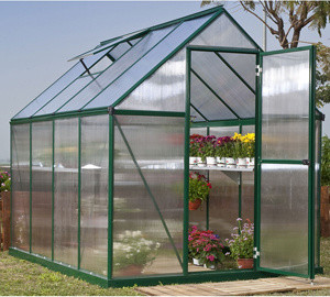 Mythos 6' x 8' Hobby Greenhouse - Green contemporary-greenhouses