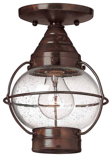 Cape Cod Flush Mount Outdoor Lantern Traditional Outdoor Lighting By Carolina Rustica