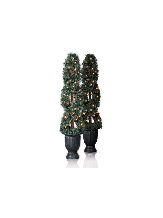 Balsam Hill Myrtle (Helix) Artificial Topiary Trees - A REFRESHING WELCOME WITH BALSAM HILL'S MYRTLE TOPIARY TREES |