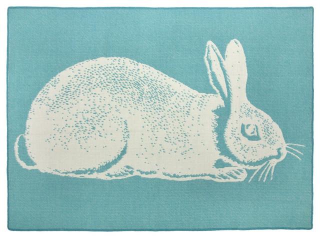 Thomaspaul - Aqua Bunny Alpaca Blanket modern-baby-bedding