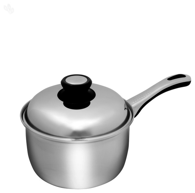 Stainless Steel Saucepan with Lid 19 cm Dia eclectic-saucepans
