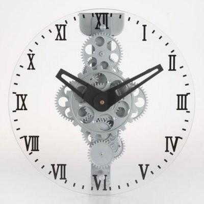 Maples Sales Moving-gear Wall Clock with Glass Cover - 12 diam. in. modern-clocks