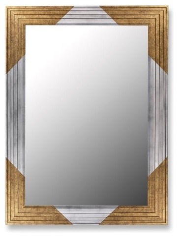 Wrap your walls in the classic stylings of the Gold Stepped Keystones Wall Mirro contemporary-mirrors