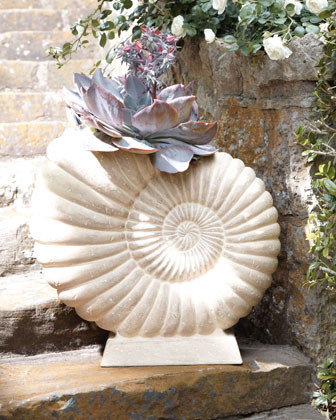 Nautilus Shell Planter traditional outdoor planters