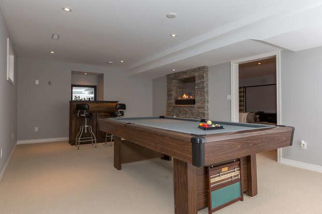 Basements contemporary-basement