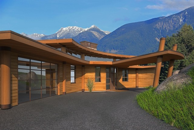 Oceanfront Home, Vancouver contemporary-rendering