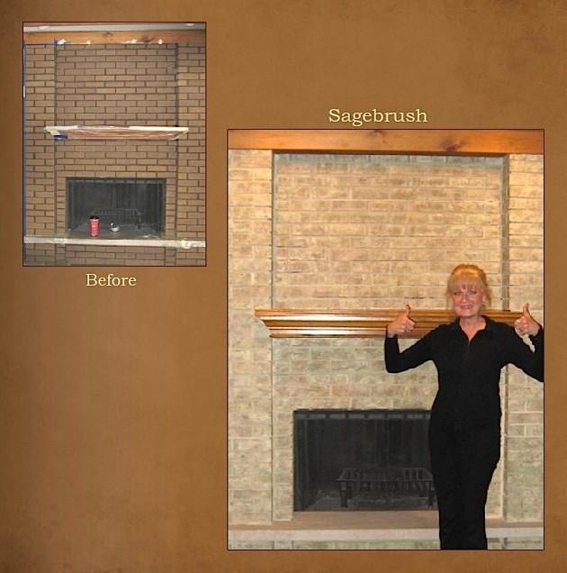 Refinish brick