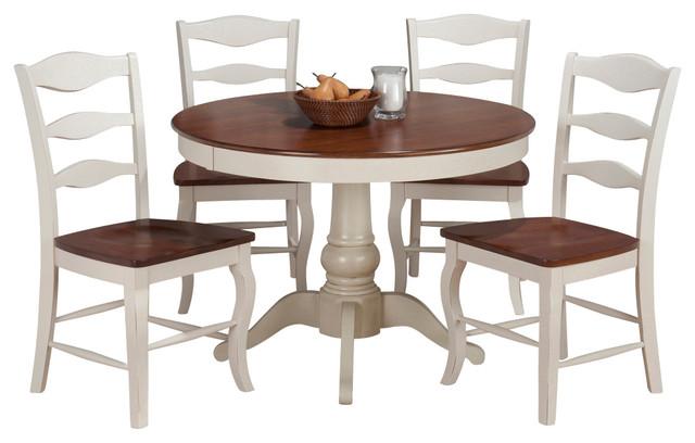 Jofran 141-42 Madison County 5-Piece Round Dining Room Set