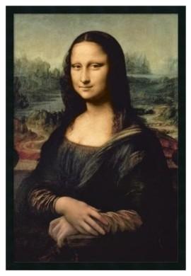 Leonardo DaVinci's Mona Lisa Framed Wall Art by Leonardo da Vinci - 25.41W x modern-artwork