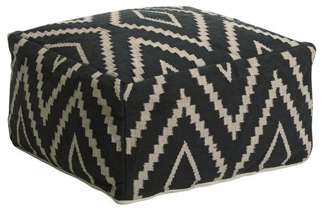 Kite Kilim Floor Pouf modern ottomans and cubes