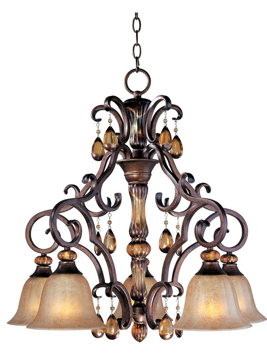 Maxim Lighting - Tuscan Five Light Down Lighting Chandelier - Lighting your life since 1970, Maxim Lighting is committed to offering you outstanding quality and satisfaction.