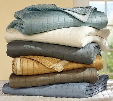 Channel Silk Quilt, Full/Queen, Wheat traditional-quilts-and-quilt-sets