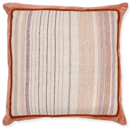 Idomatic Linen Gara Sunset Pillow modern-decorative-pillows