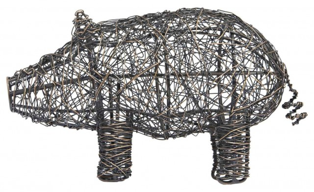 Mr Moses Wire Pig LazySusanUSA Home Decor By Lazy Susan USA
