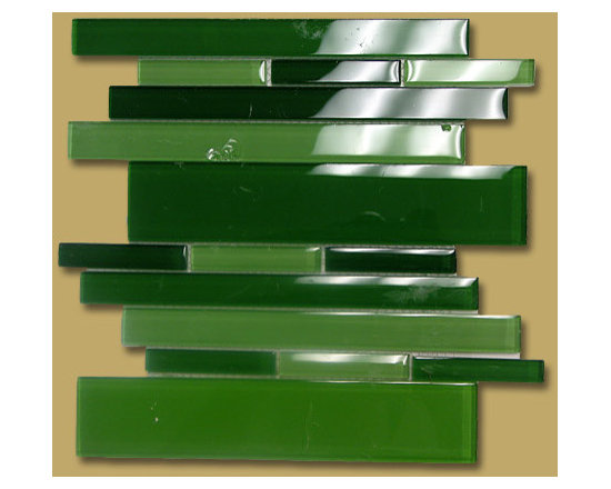 Mosaicorama Lineal blend in green - Blend series is available in 1x1 1x2 and lineal multi size. 4 colors
