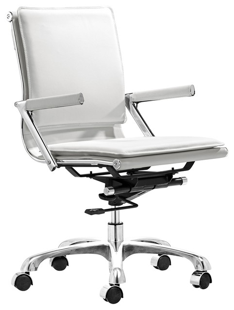 Zuo Lider Plus White Office Chair - contemporary - task chairs ...