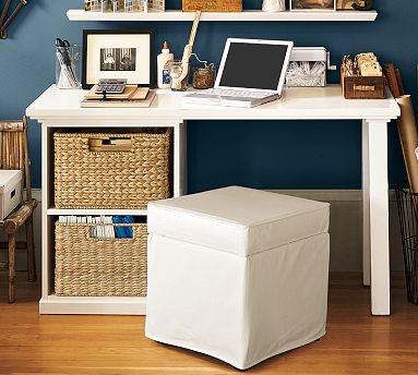Bedford Small Desk Set, 1 Desktop & 1 3-Drawer File Cabinet, Antique White - Traditional ...