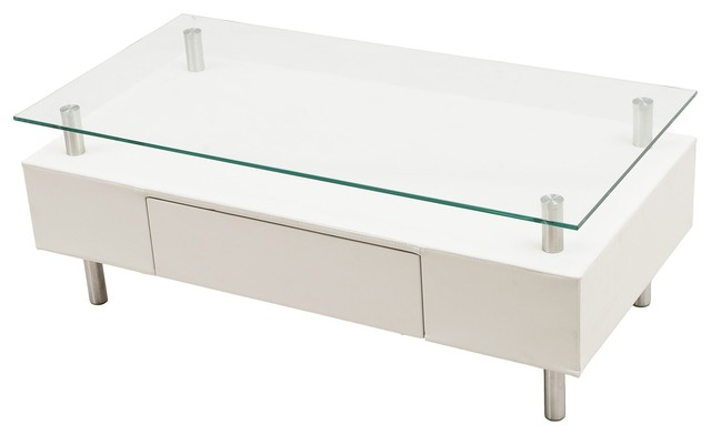 Modern White Rectangular Coffee Table With Drawer Molino Modern Coffee Tables San