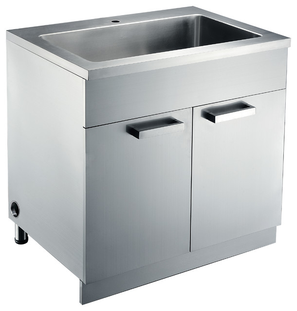 Stainless Steel Sink base Cabinets - Kitchen Cabinetry - san francisco - by DAWN KITCHEN & BATH ...