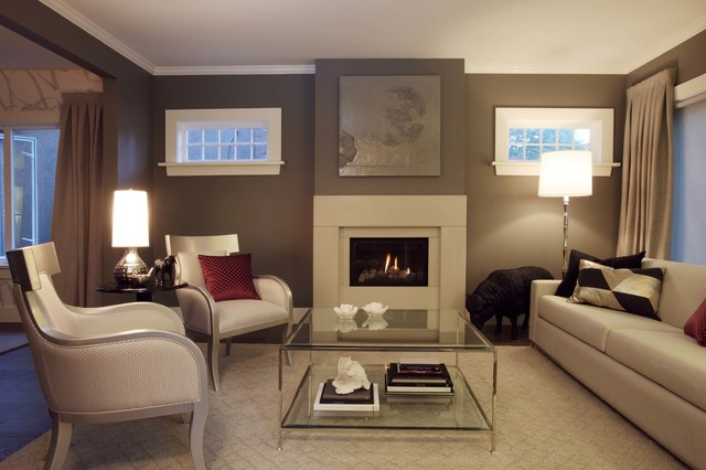 POINT GREY HOME transitional-living-room